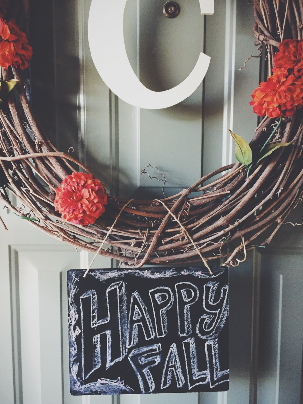 Happy Fall wreath and sign | finicky designs