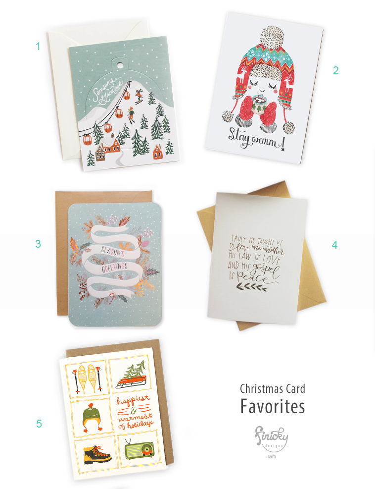 A 2014 collection of pretty Christmas cards | finicky designs