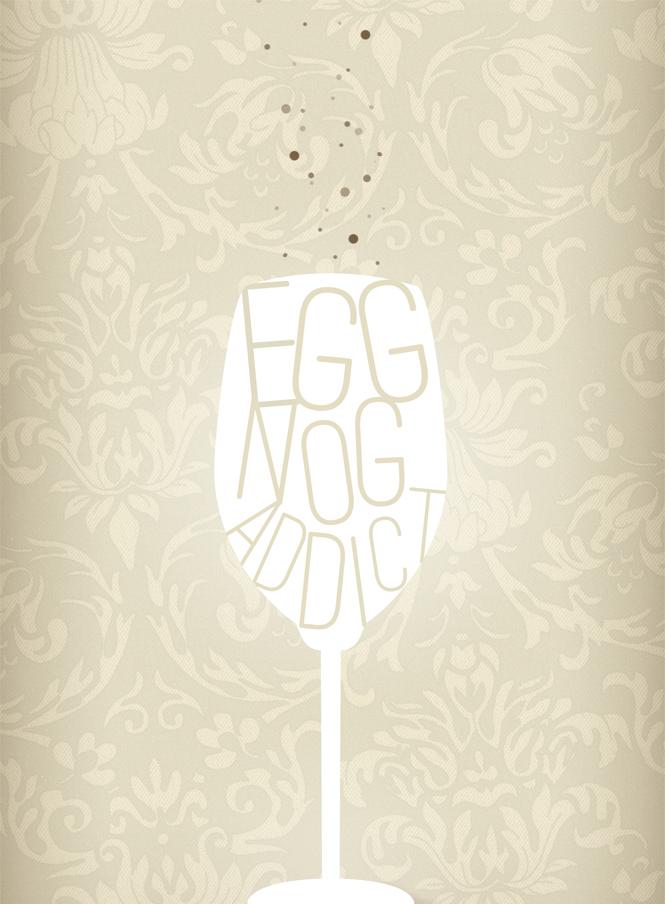 Eggnog Addict art print | finicky designs