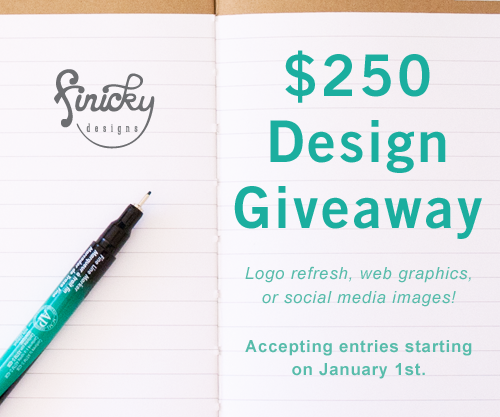 $250 Design Giveaway from finicky designs! Entries run through January 17, 2015!