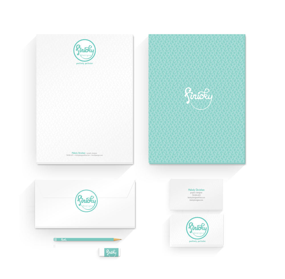 finicky designs logo and brand identity system