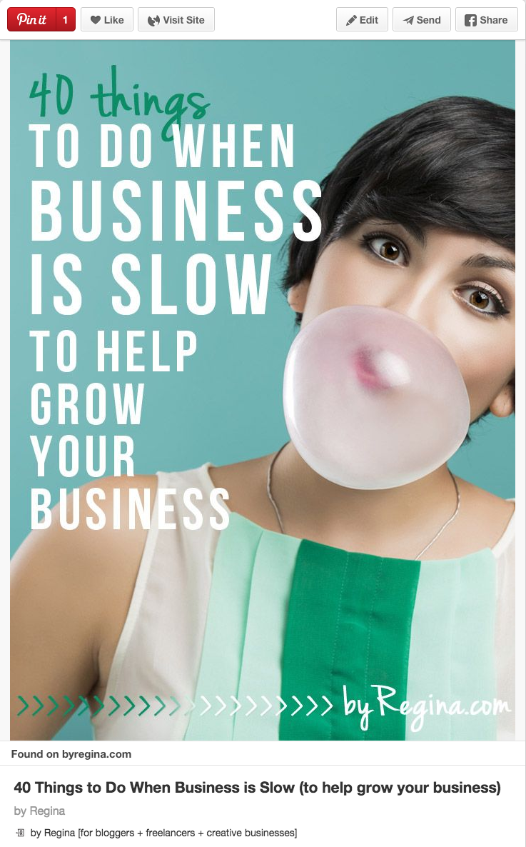 40 things to do when business is slow by Regina