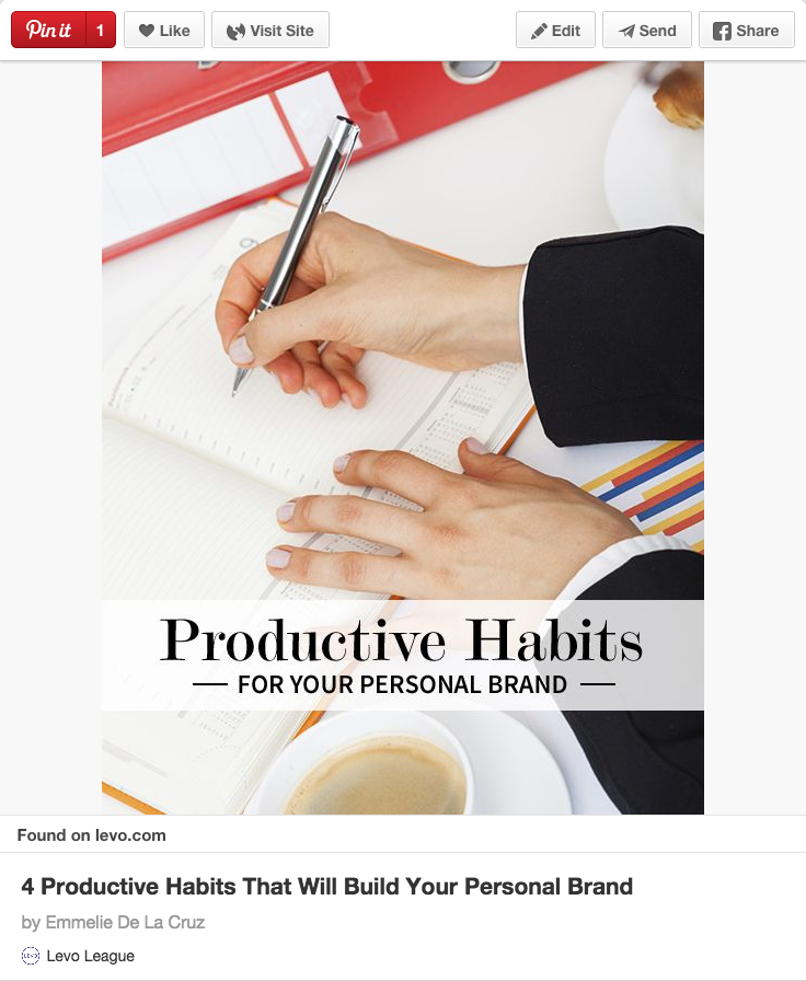 Productive Habits for your personal brand