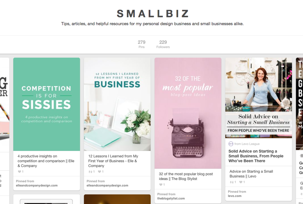Small Biz pinboard on Pinterest by Finicky Designs