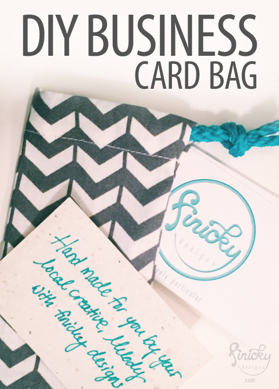 DIY Business Card Bag - great for networking event gifts! | by finicky designs