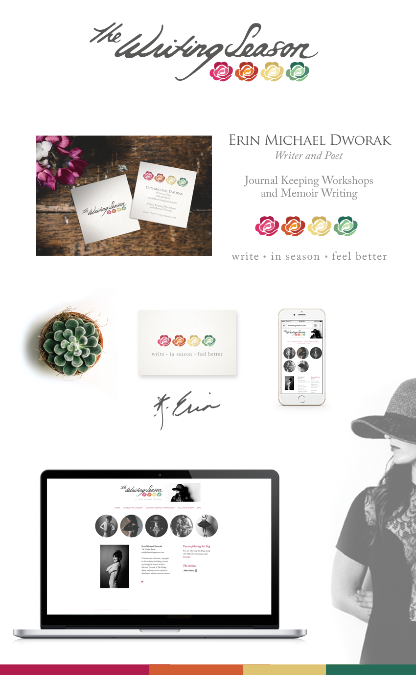The Writing Season brand by Finicky Designs