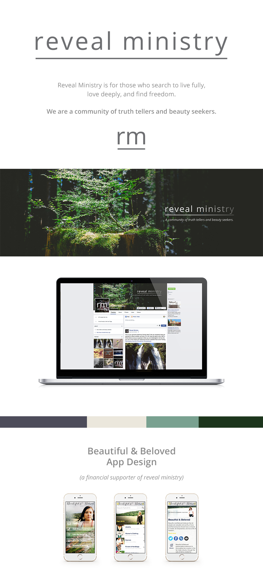 Reveal Ministry brand design by Finicky Designs