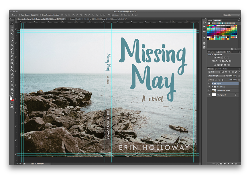 How To Make A Book Cover Using Photo : How to design a book cover in photoshop and apple pages