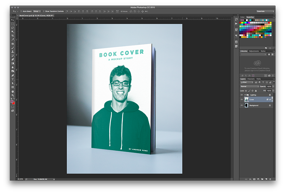 How to Make a Book Mockup in Photoshop - Choose your cover template