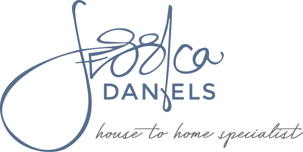 Jessica Daniels Realtor brand, graphic design by finicky designs
