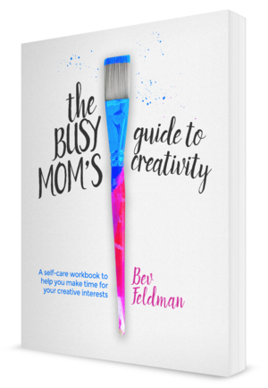 The Busy Mom's Guide to Creativity, book cover design by Finicky Designs