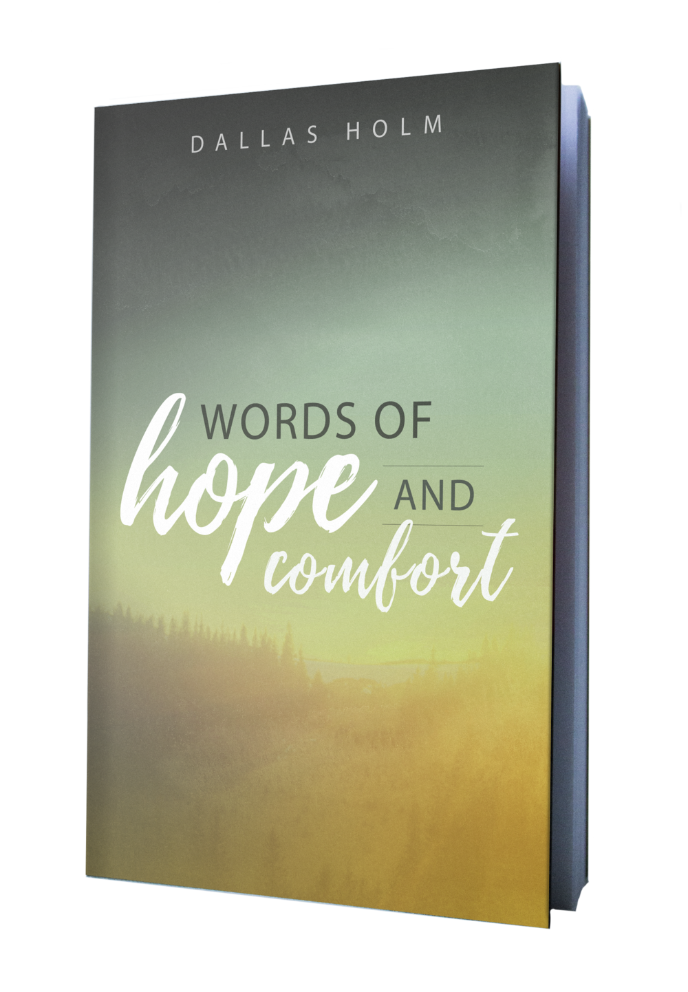 Words of Hope and Comfort book design by Finicky Designs