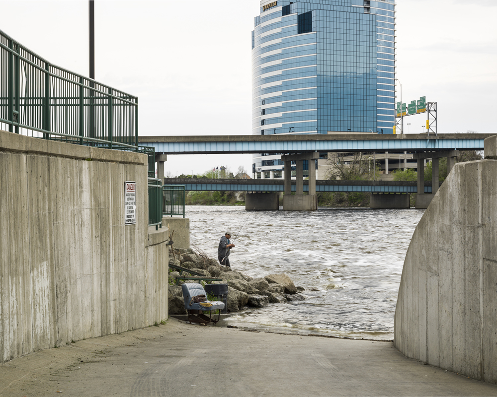 Fishing from the 6th Street Bridge Park. 2014