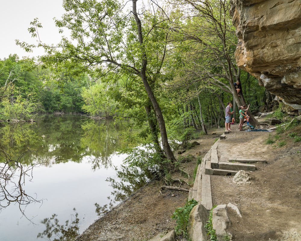 Climbers at Grand Ledge. 2014