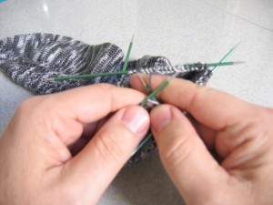 Knitting with size 0 US needles