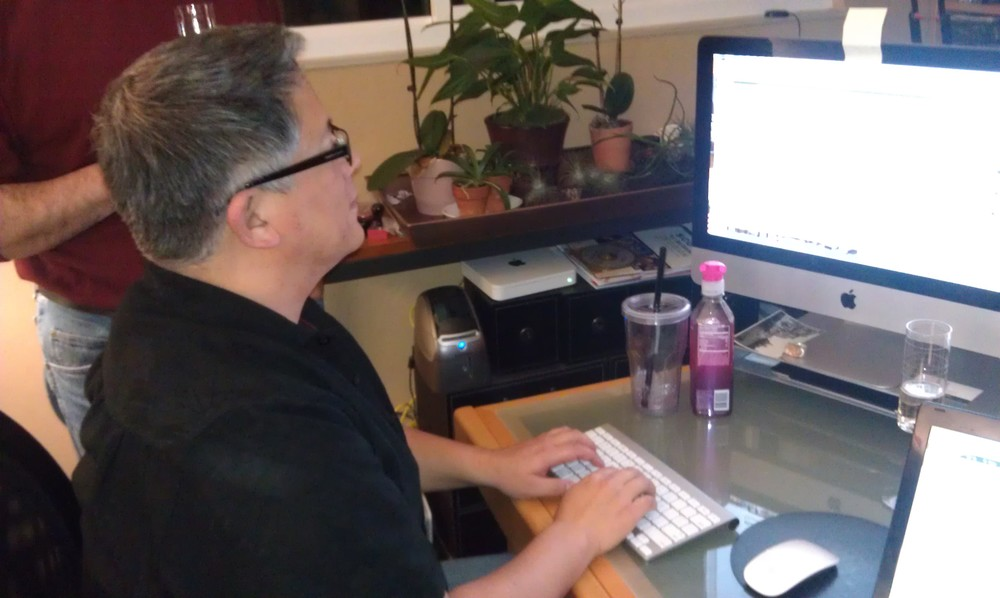Patrik's desk