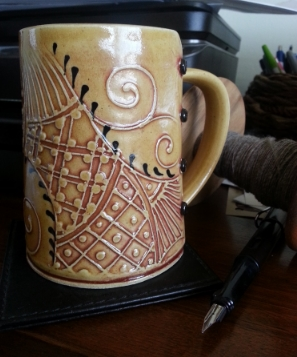 One of the beautiful tankards I purchased from Charan.