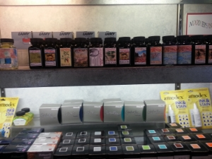 Just a portion of the wall of ink at Flax. I can't breathe, OMG, I can't breathe!