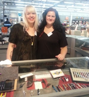 Lani (left) and Stephanie (right) know everything in the world about pens, ink, and paper. They totally rock!
