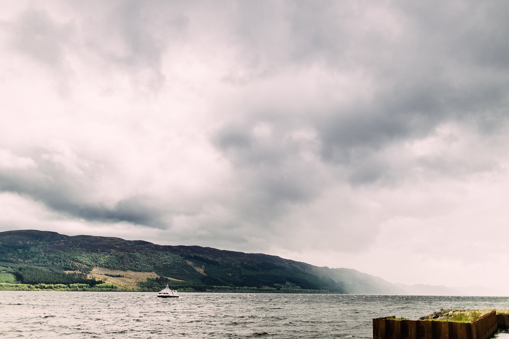 Fog and mist coming in over Loch Ness. Just beautiful.