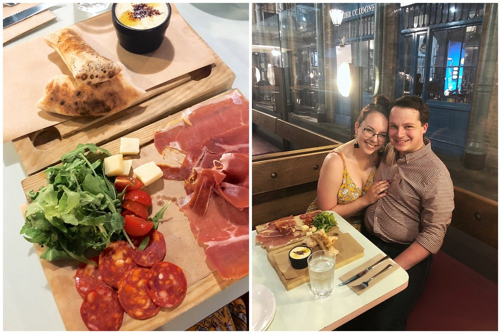Went for a late night snack in Covent Garden marketplace to end off Day 1. Cheeseboards forever!!