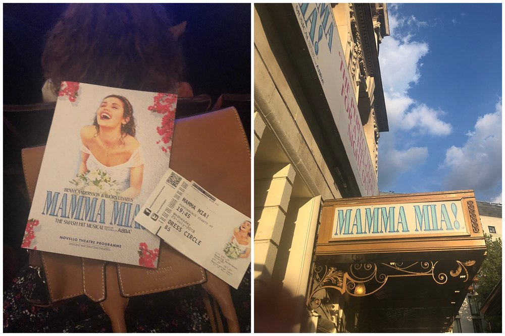 MAMMA MIA!!! HERE I GO AGAIN!  Got to see Mamma Mia in the West End and I nearly DIED you guys.