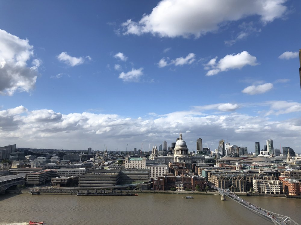 Took a trip through the Tate Modern and went to their rooftop for the coolest view of the city