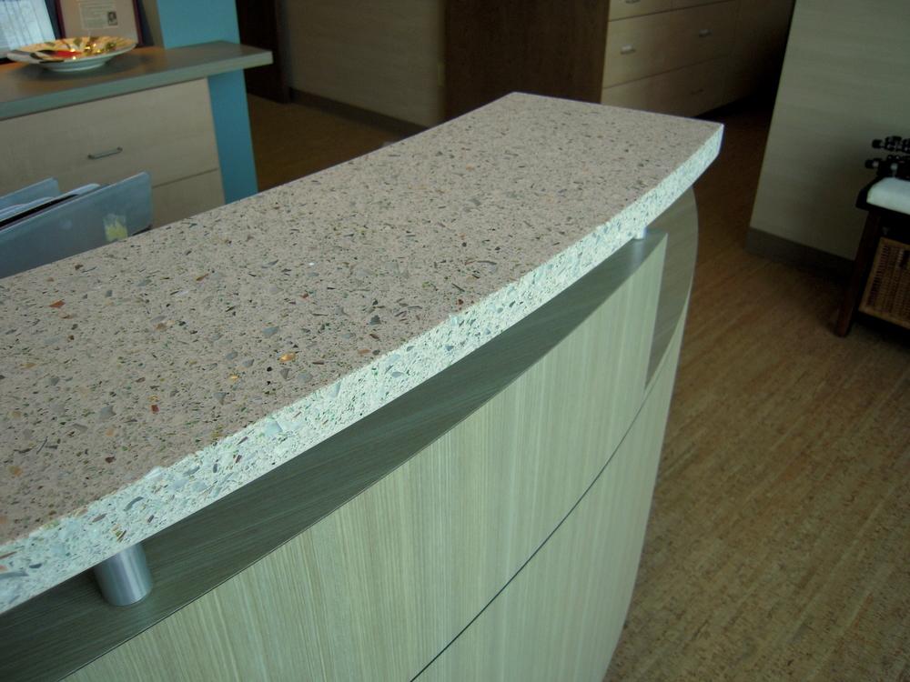 Reception Countertop Materials : Reception Counter Detail