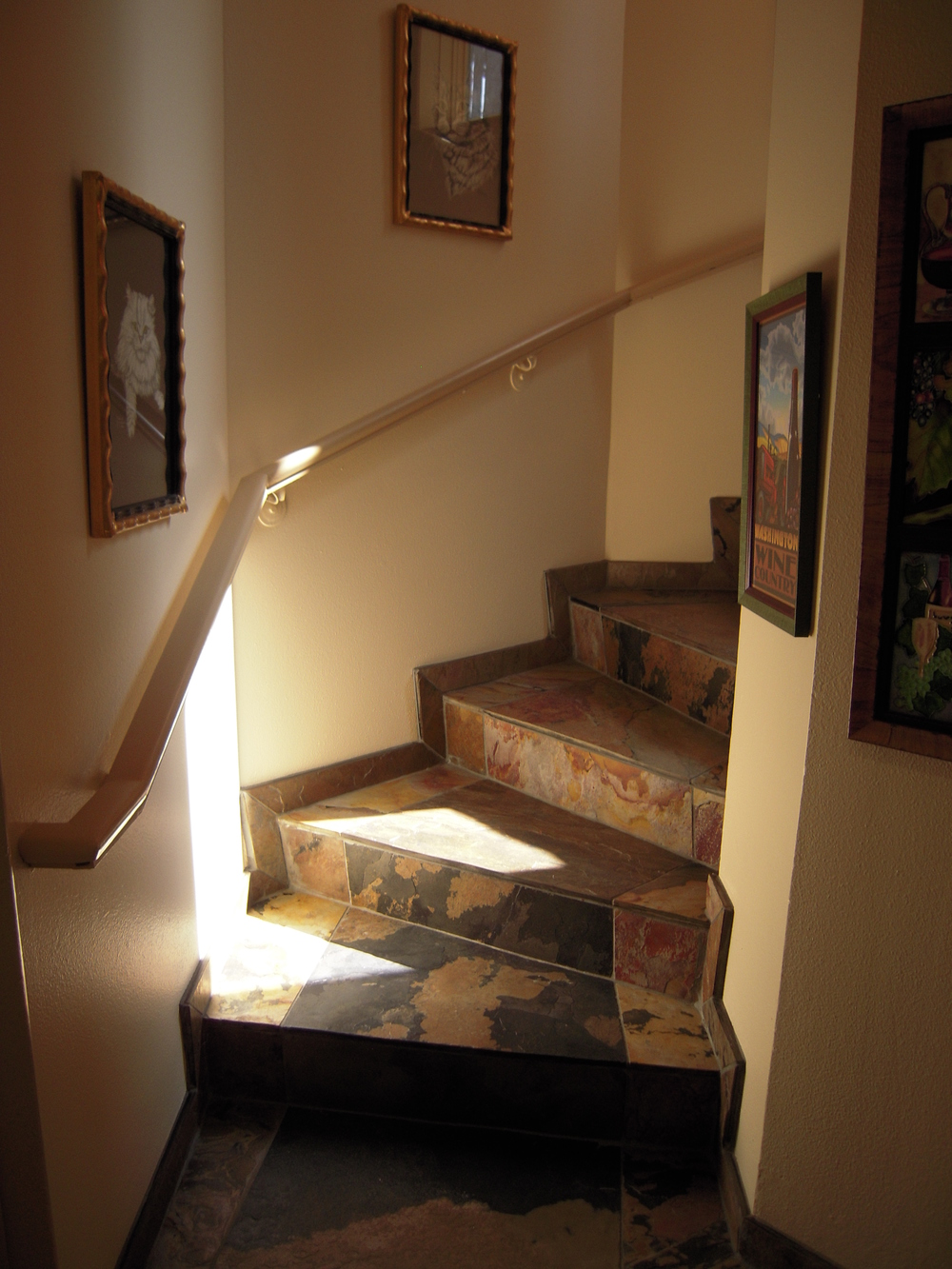 Lower stairwell from garage after.JPG