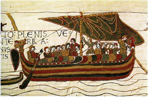 The Bayeux tapestry depicting the Norman conquest
