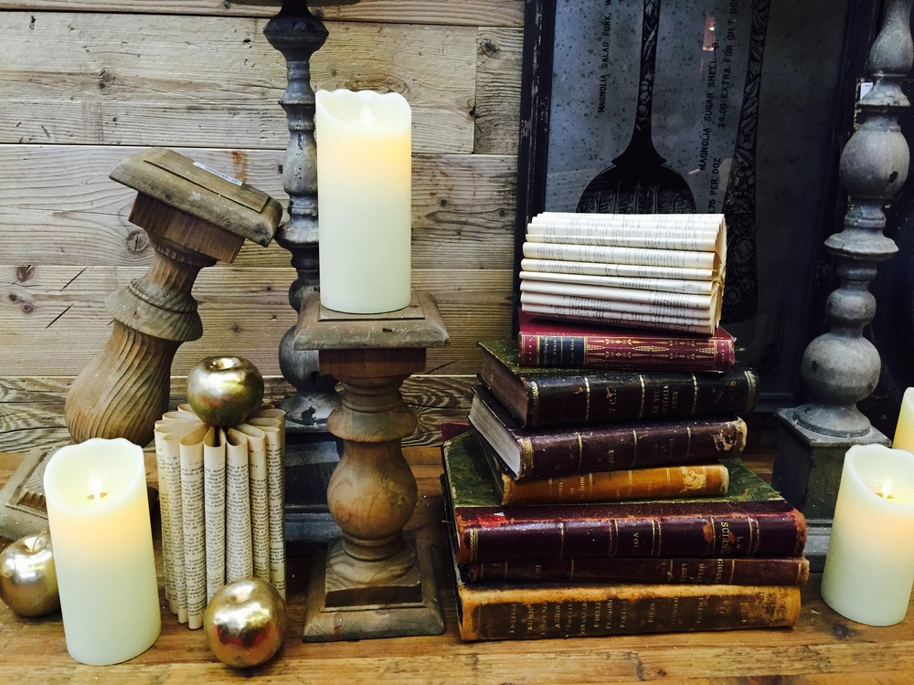 Candlesticks and battery-operated candles - what's not to love?