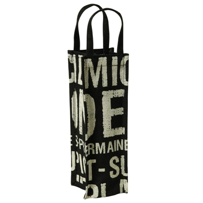 Paris Metro wine tote bag