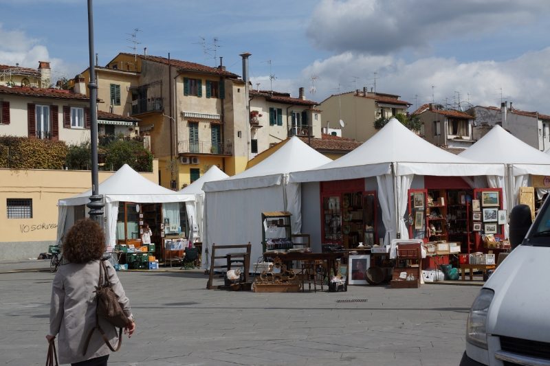 The flea market by Mercato Sant'Ambrogio