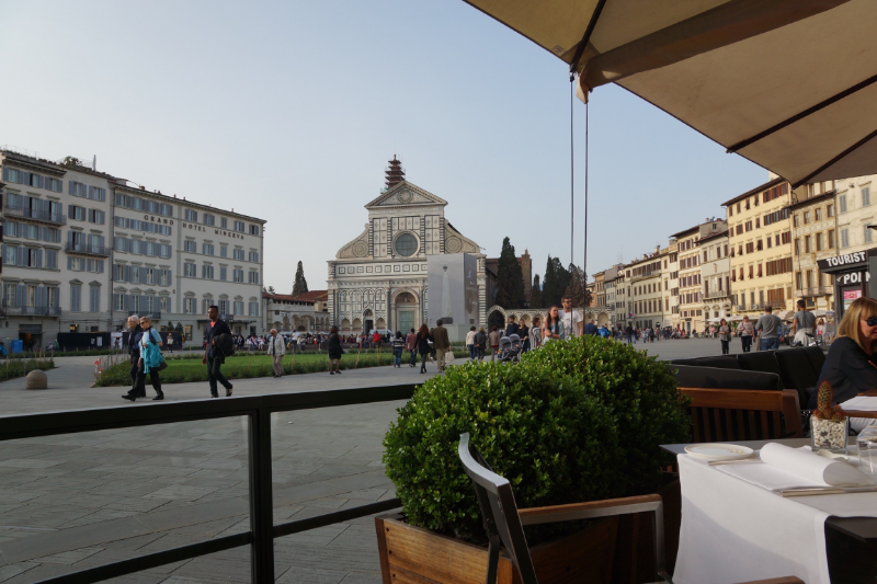 JK Place terrace on Piazza Santa Maria Novella