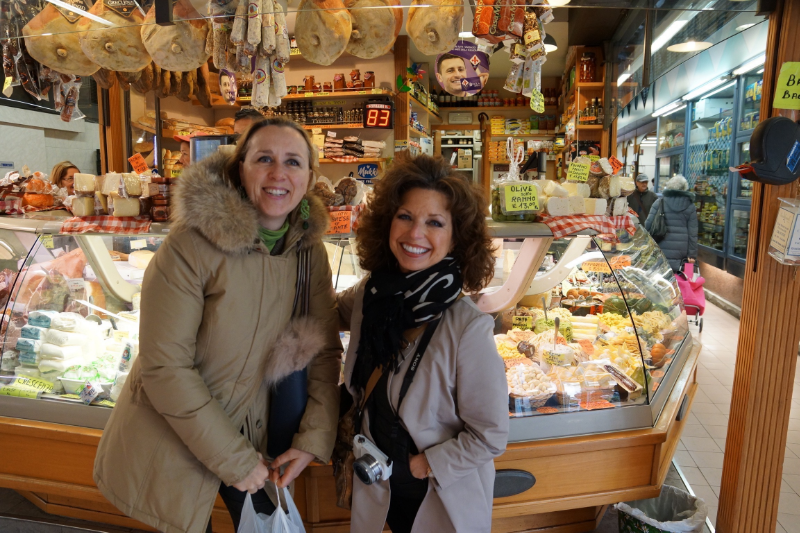 Laura Franceschetti and me at Mercato Sant'Ambrogio