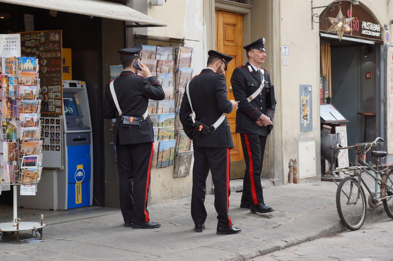 Florentine police at Piazza Santo Spirito