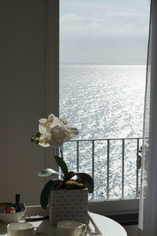 .....And the view looking out toward sea from our room at  La Mala  in Vernazza