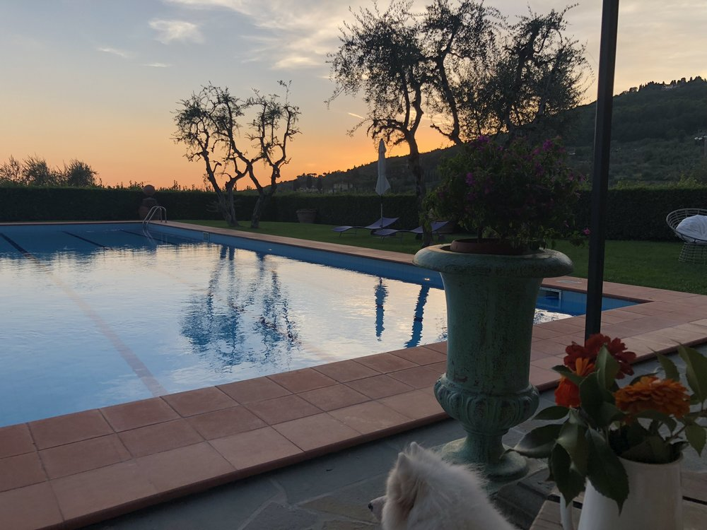 The serene pool at sunset - Borgo i Vicelli.