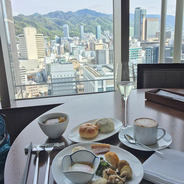 One of my favorite parts of traveling in Asia is the amazing spread at breakfast. Doesn't hurt when the view is beautiful too. #kobe #japan #foodie #travels #remytakesjapan