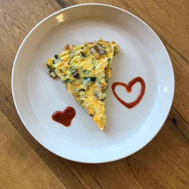 Made a frittata for my hubby for Father's Day. He is a much better cook than I am, so I was happy he went back for thirds. 👪💋💗 #fathersday #nomnom