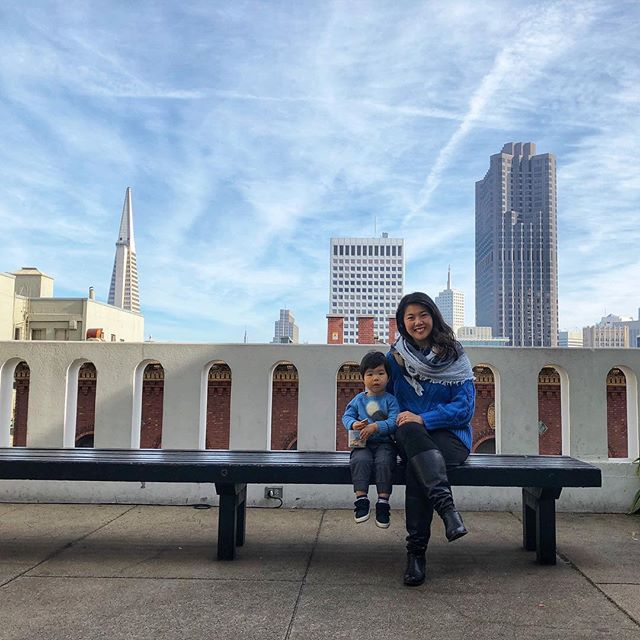 Kicked off 2018 with a visit to the Fairmont Hotel's garden which had a beautiful view of classic SF and the cable cars. I loved being able to enjoy San Francisco with my little man and see how his face lights up with delight. Cheers to more memories and adventures in 2018! #sf #fairmont