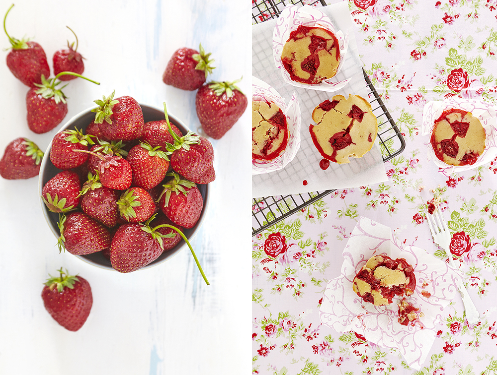 strawberry food photography