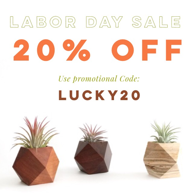"Happy Labor Day deals from Northerns! Use the code ""LUCKY20"" to receive 20% off at northerns.co today! Deals is TODAY ONLY. Have a great holiday🌿"