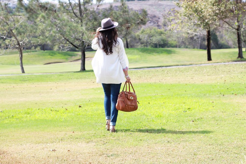 Fall Fashion with plaid, booties, boyfriend denim and felt hats