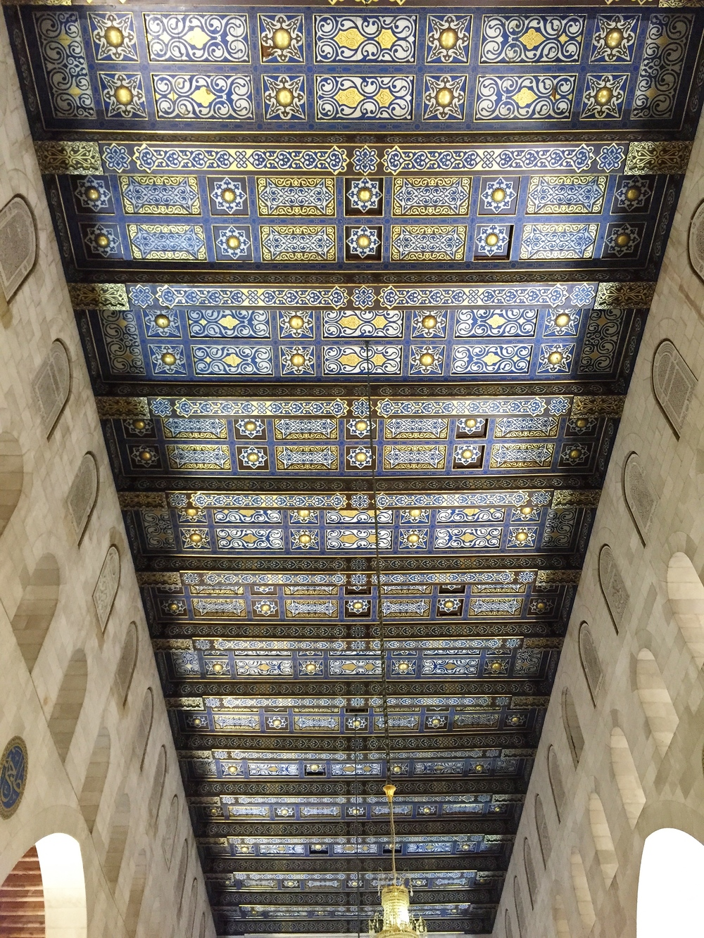 Beautiful ceiling in Masjid Al-Aqsa (this photo isn't even close to doing it justice)