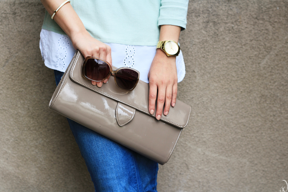 Kate Spade, Ann Taylor, casual, brunch look, weekend, mint, white, taupe, spring neutral