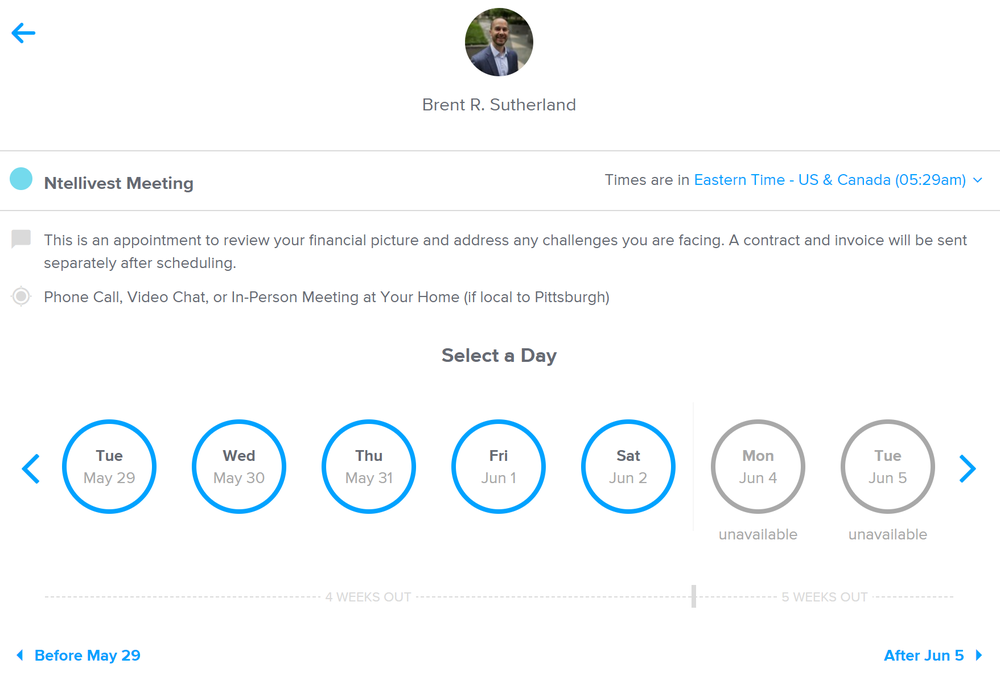 Calendly   in action