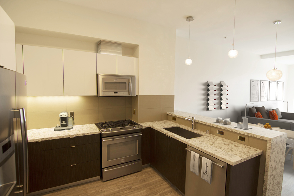 Apartments Westwood, Los Angeles - Gayley & Lindbrook Kitchen