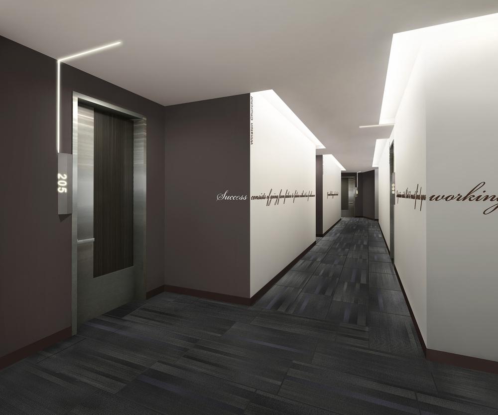 Corridor Design: Westwood Village Apartments