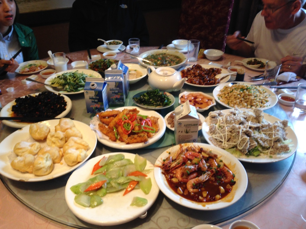 A traditional Chinese meal.